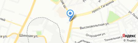 Скорбота на карте Днепропетровска