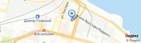 Пирамиса на карте Днепропетровска
