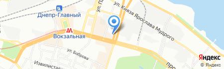 Богиня на карте Днепропетровска