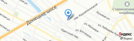 Дніпропетровська дитяча музична школа №1 на карте Днепропетровска