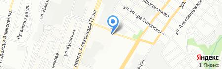 Элегин на карте Днепропетровска