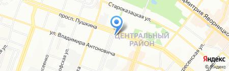UniCredit Bank на карте Днепропетровска