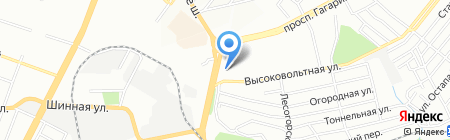 Локон на карте Днепропетровска