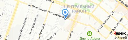 Рент на карте Днепропетровска