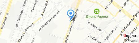 Югомет на карте Днепропетровска