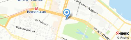 Дом ткани на карте Днепропетровска