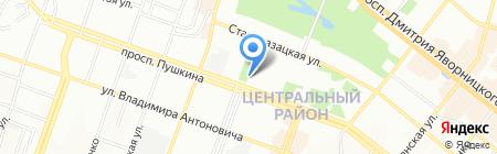 Дніпропетровська музична школа №3 на карте Днепропетровска