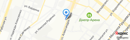 Ателье Плюс на карте Днепропетровска