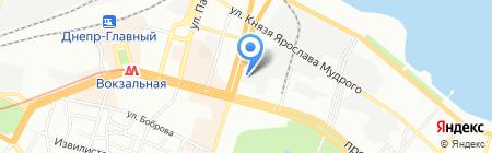Ноутбук на карте Днепропетровска