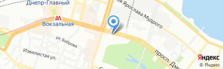 Снежная королева на карте Днепропетровска