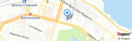 Люксоптика на карте Днепропетровска