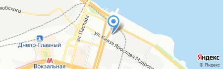 Кафетерий на карте Днепропетровска