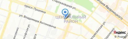 Марта на карте Днепропетровска