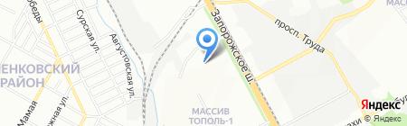 Зелена планета на карте Днепропетровска