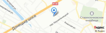 Автозапчасти на карте Днепропетровска