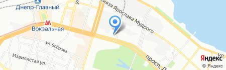 Шарм на карте Днепропетровска