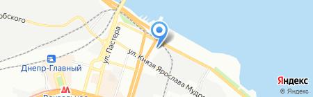 Контакт на карте Днепропетровска