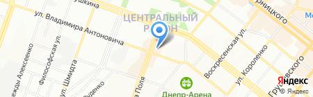 Анастасия на карте Днепропетровска