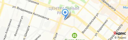 Табакерка на карте Днепропетровска