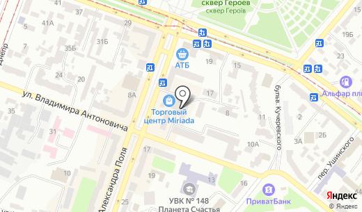 Miriada. Схема проезда в Днепропетровске