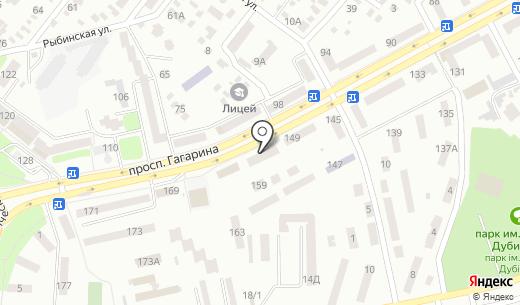 Банкомат УкрСиббанк. Схема проезда в Днепропетровске