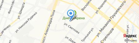 Спеціалізована школа №144 з поглибленим вивченням івриту історії єврейського народу на карте Днепропетровска