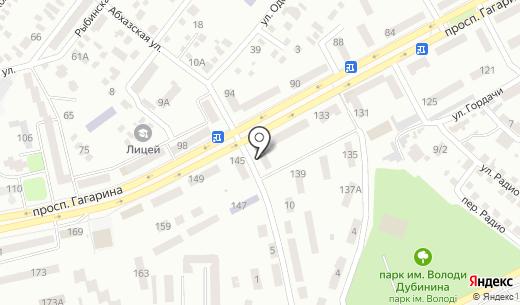 Банкомат КБ ПриватБанк. Схема проезда в Днепропетровске