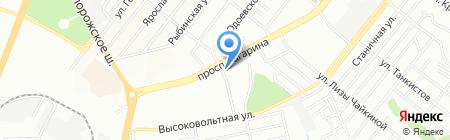 Супутник на карте Днепропетровска