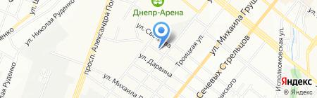 АСК на карте Днепропетровска