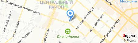 Оазис на карте Днепропетровска