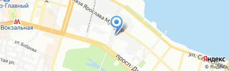 Торговый Союз на карте Днепропетровска