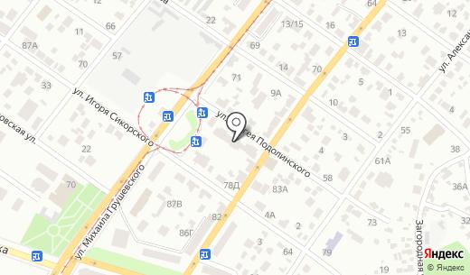 New-Parket. Схема проезда в Днепропетровске
