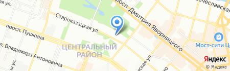 Днепр-ЮГ на карте Днепропетровска
