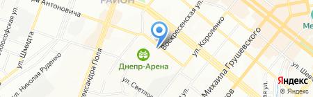 Элит-лимузин на карте Днепропетровска