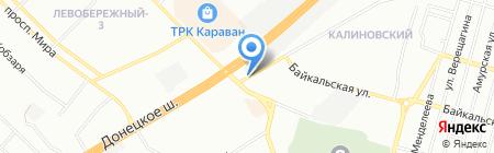 Українські ковбаси на карте Днепропетровска