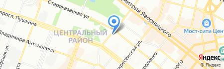 Альфа-Аэротурсервис на карте Днепропетровска