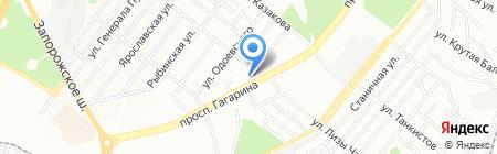 Венилия на карте Днепропетровска