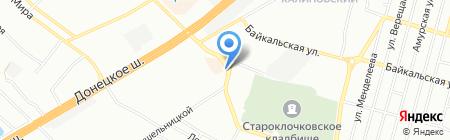 ОКОНСКИЙ и БАЛКОНСКИЙ на карте Днепропетровска