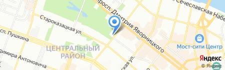 Инвельта на карте Днепропетровска