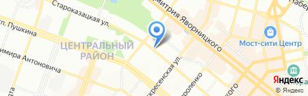 Комок на карте Днепропетровска