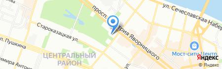 Санні тревел на карте Днепропетровска