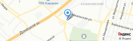Красотка на карте Днепропетровска