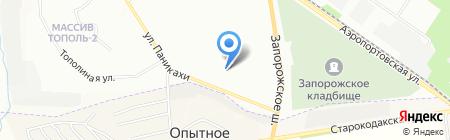 Фортеця на карте Днепропетровска