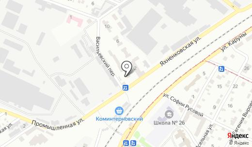 Продуктовый магазин. Схема проезда в Днепропетровске