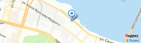 Красный коралл на карте Днепропетровска