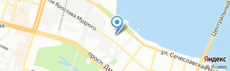 Лидия на карте Днепропетровска