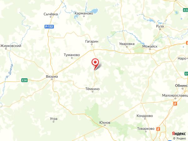 деревня Струя на карте