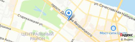 Узвар на карте Днепропетровска