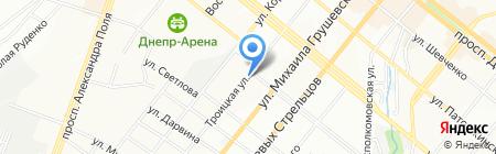 Единая Компьютерная Служба на карте Днепропетровска