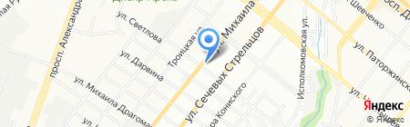 Электроник на карте Днепропетровска